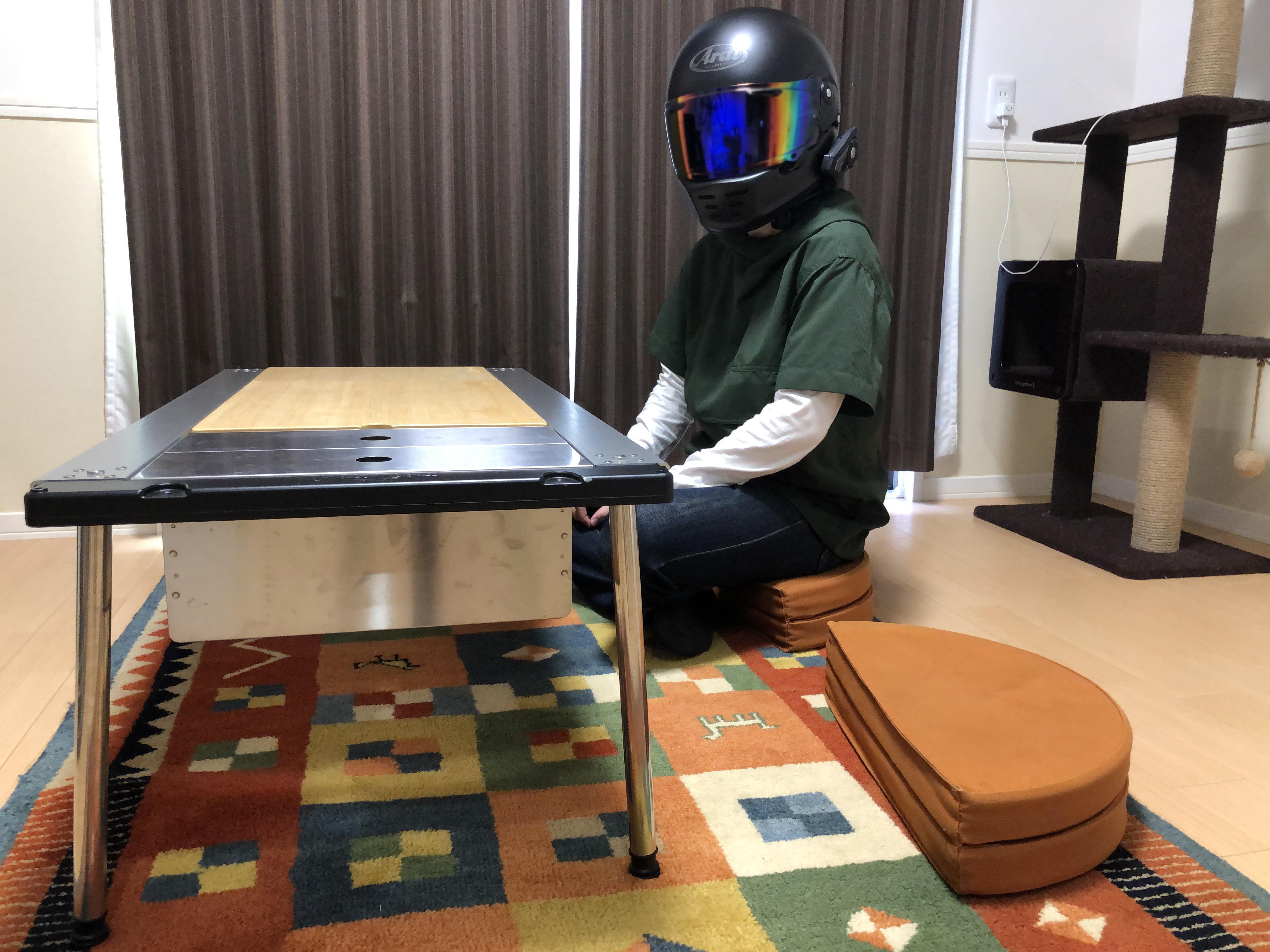 スノーピークのIGT(アイアングリルテーブル)を室内で普段使いしてみた。